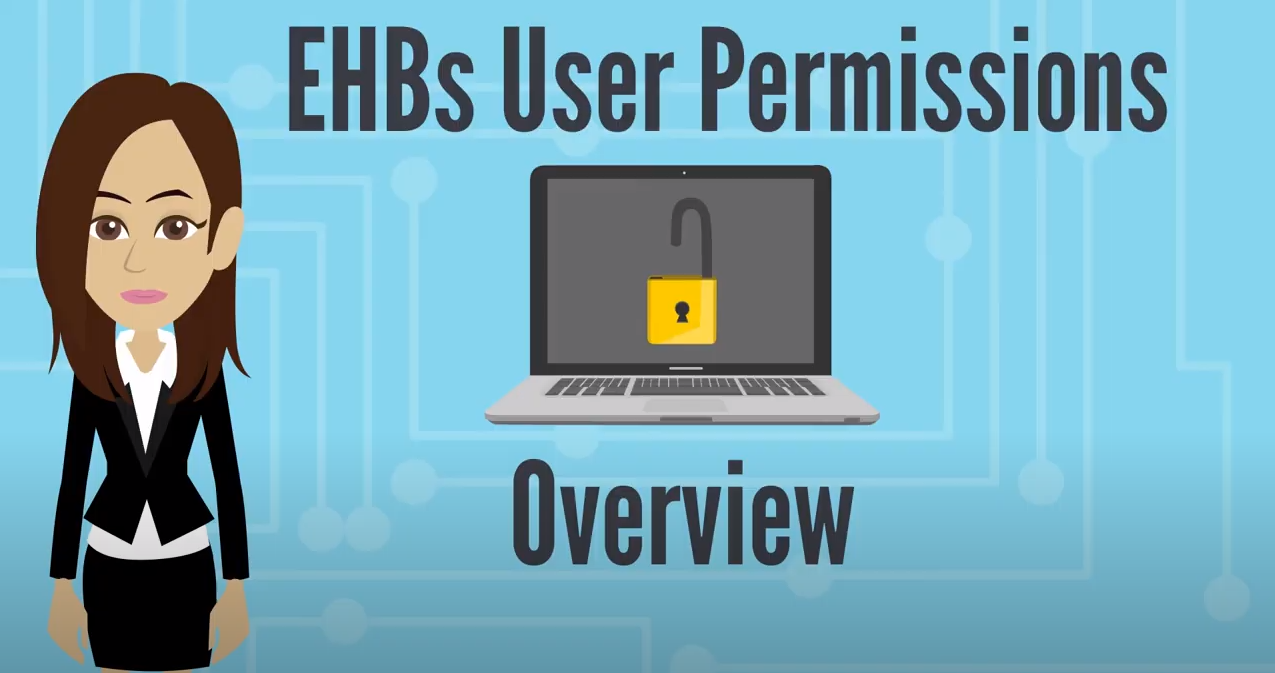 Screenshot of EHBs User Permissions Overview Video Thumbnail