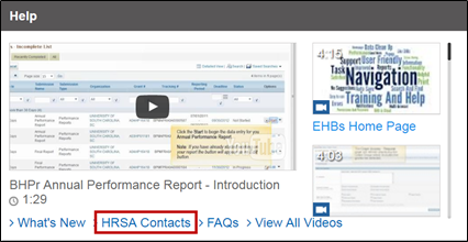 HRSA Contacts link