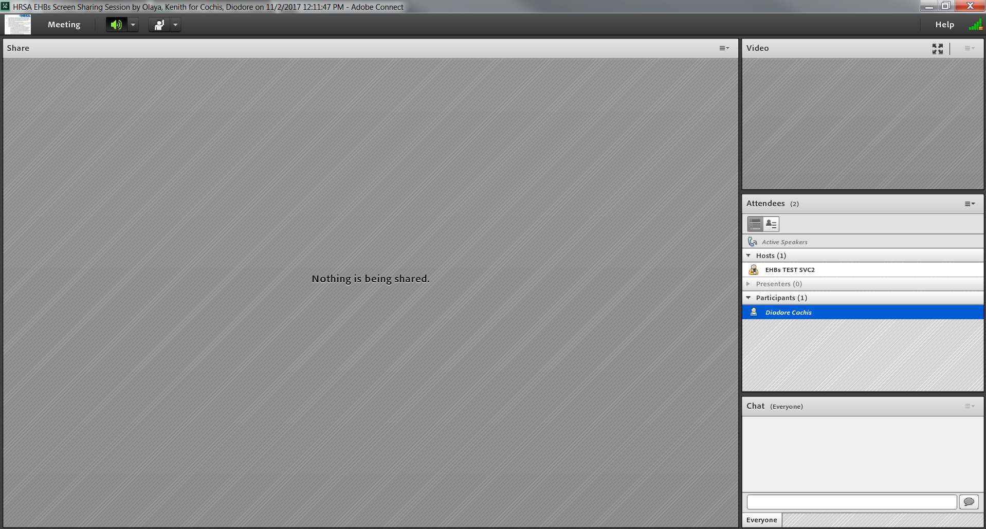 Screenshot of Adobe Connect Screen Sharing Session